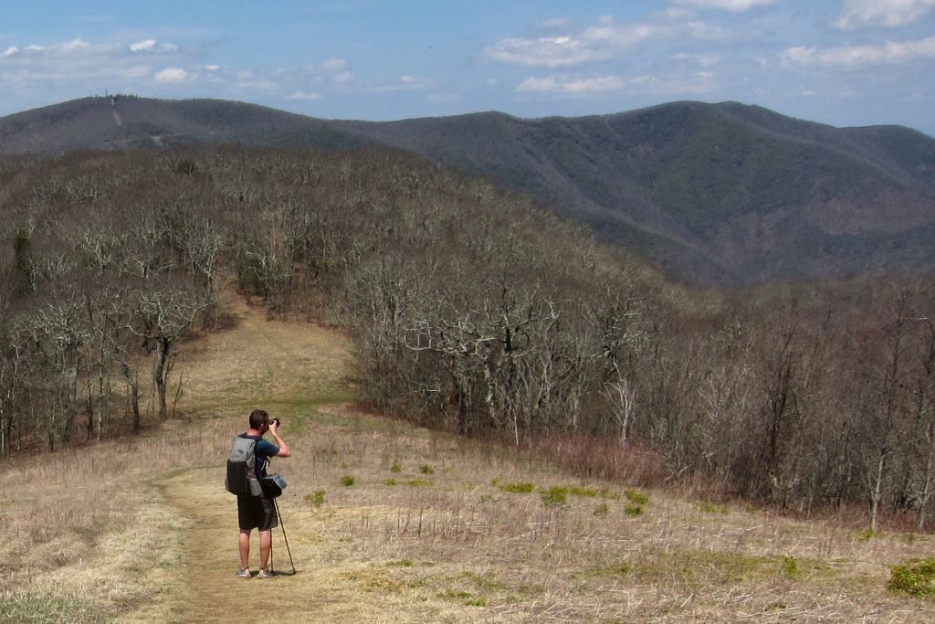 Photographing a bald on the Appalachian Trail