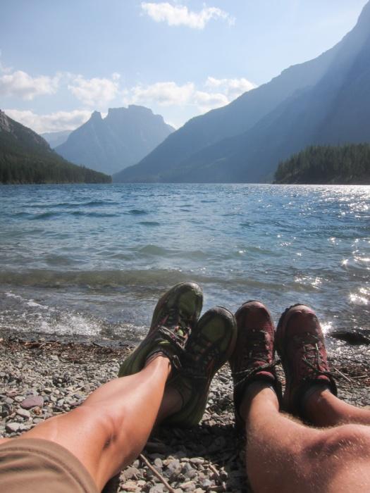Resting our feet at Kintla Lake