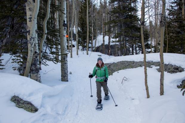 Snowshoeing Bierstadt Lake Trail