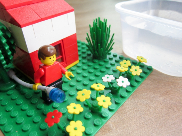 Lego scene depicting human water use