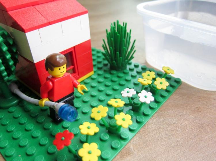 Lego scene depicting human water use