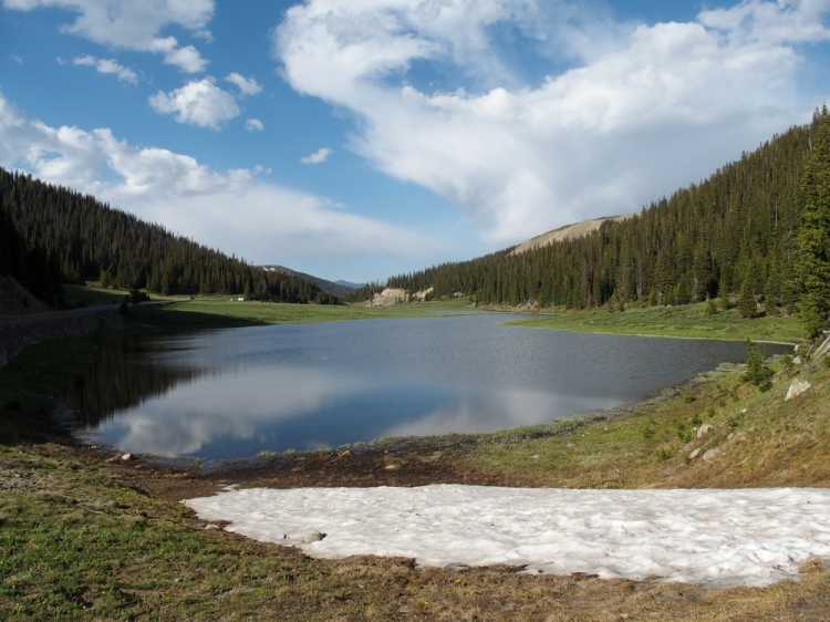 Poudre Lake, the beginning of the Poudre River