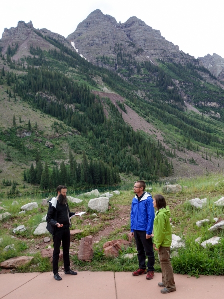 Rehearsing in Maroon Bells Amphitheater with Noah