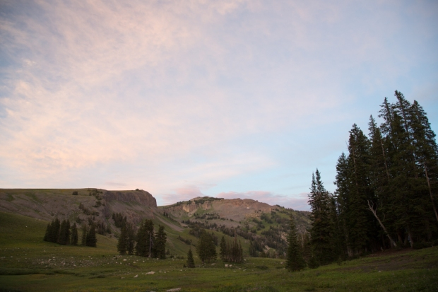 Sunset at Marion Lake Backcountry Campground