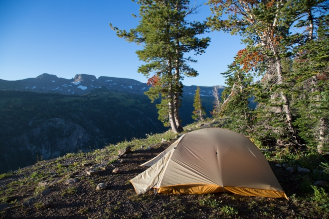 Campsite on Death Canyon Shelf