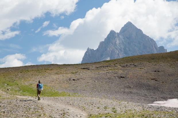 Approaching Hurricane Pass in Grand Teton National Park