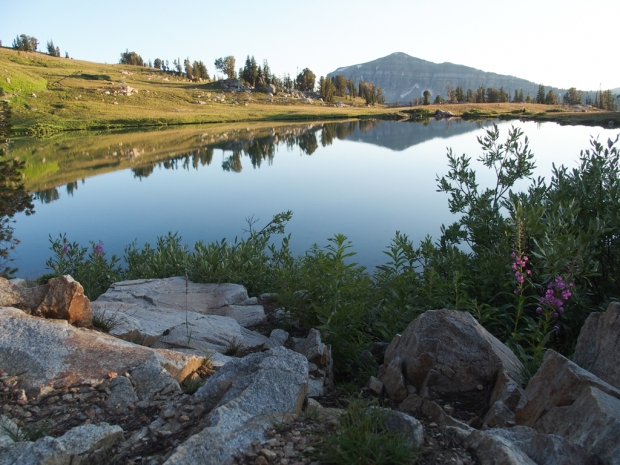 Sunset Lake in Grand Teton National Park