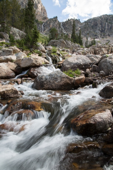 South Fork Cascade Creek with waterfalls in the distance