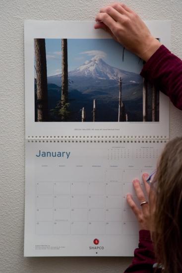 Hanging PCT calendar