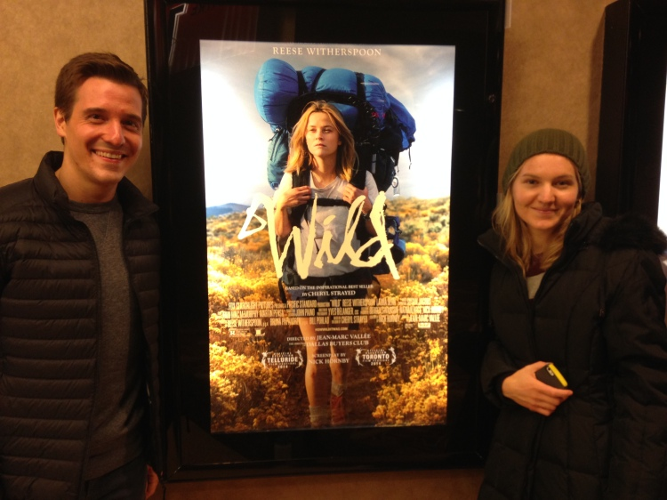 Joe and Lili at Wild movie opening
