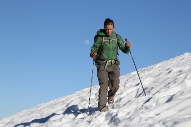 Crossing snow fields