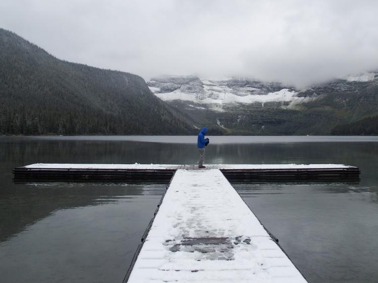 Shutterbug at Cameron Lake