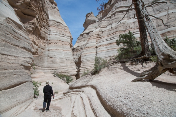 Uncle Bernie walking through the canyon