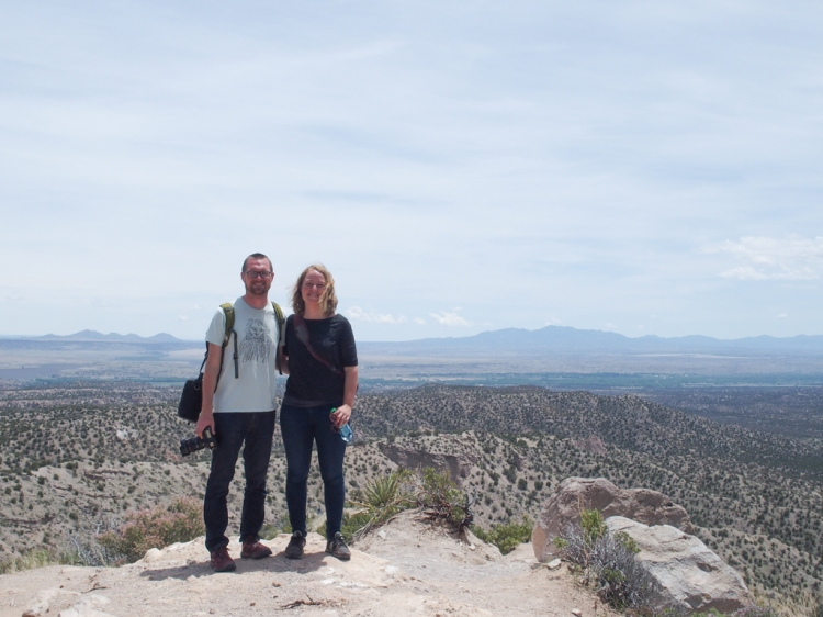 Chris and Becky enjoying an expansive view of the New Mexican desert
