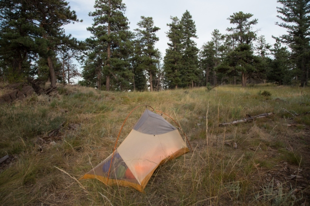 Backcountry campsite in Lory State Park