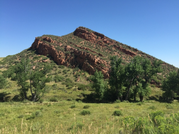 Red siltstone formations near Lory State Park